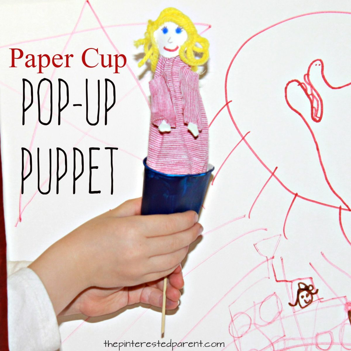 Paper Cup Pop-up Puppet